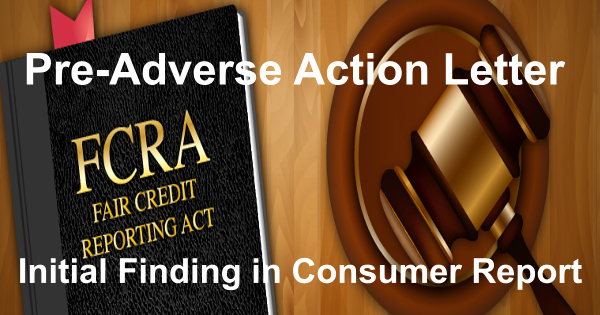 Adverse Action Letter Sample Fresh Fcra Pre Adverse Action View Sample Letter