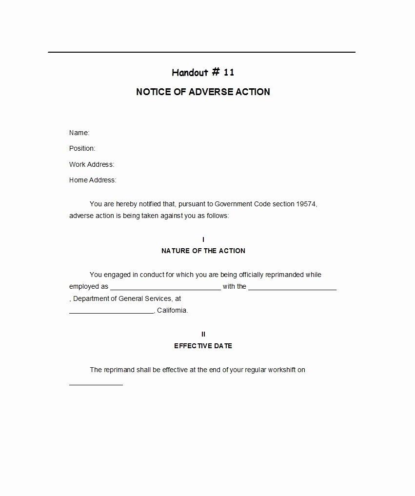Adverse Action Letter Sample Unique 50 Free Adverse Action Notices Adverse Action Letters