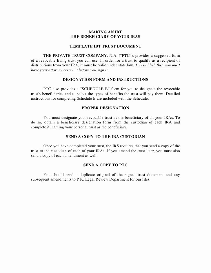 After Death Instructions Template Best Of Microsoft Word Ira Trust Template