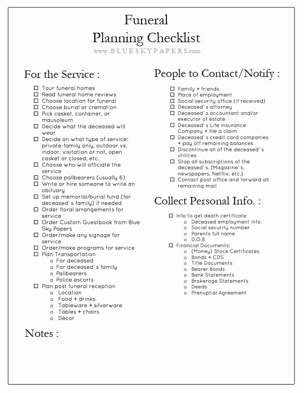 After Death Instructions Template Inspirational How to Plan A Funeral Free Funeral Planning Checklist