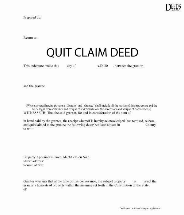 After Death Instructions Template Inspirational Quitclaim Deed