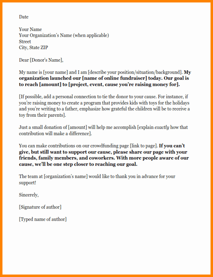 After Death Instructions Template New 8 Donor solicitation Letter