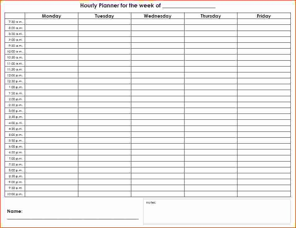 Agenda with Time Slots Elegant 6 Hourly Planners Bookletemplate