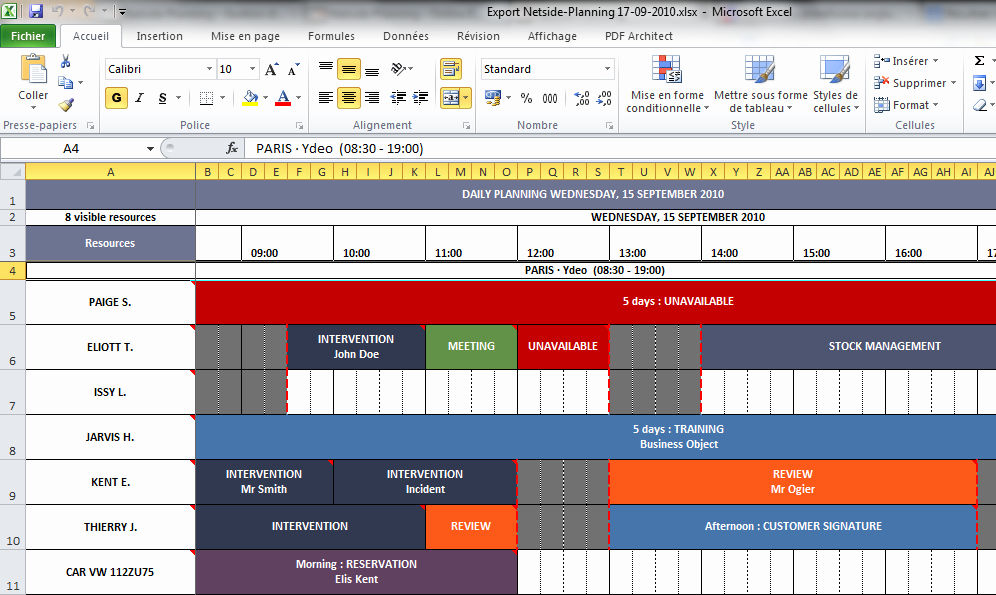 Agenda with Time Slots Inspirational Netside Planning Line Employee Scheduling software