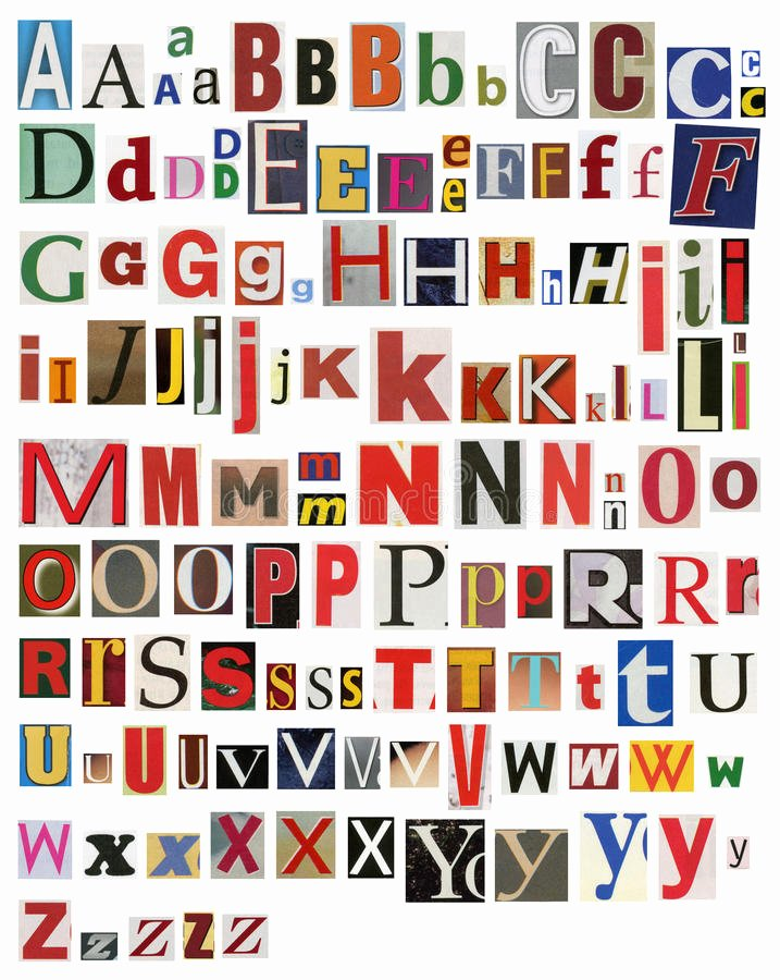 Alphabet Cut Out Letters Best Of Colorful Newspaper Magazine Alphabet Stock Image Image