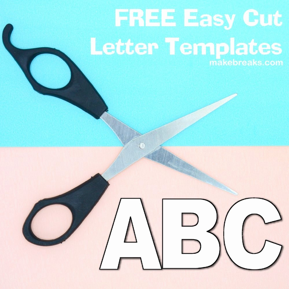 Alphabet Cut Out Letters Elegant Free Alphabet Letter Templates to Print and Cut Out Make