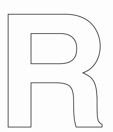 Alphabet Cut Out Letters Inspirational Best 25 Block Letter R Ideas On Pinterest
