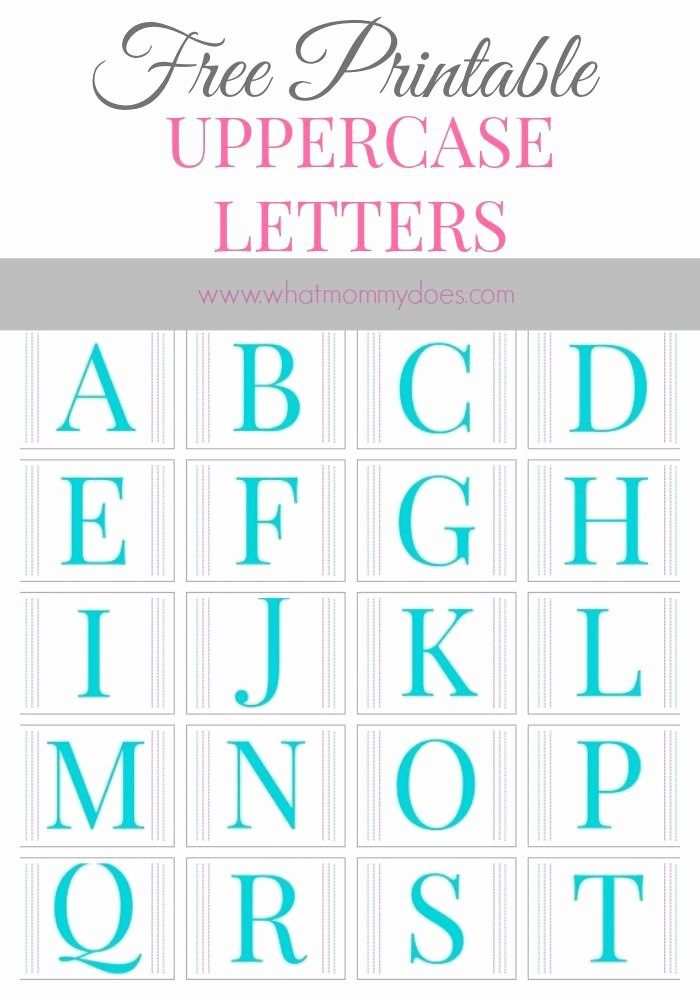 Alphabet Letters to Print Free Best Of Free Printable Alphabet Letters A to Z Large Upper Case
