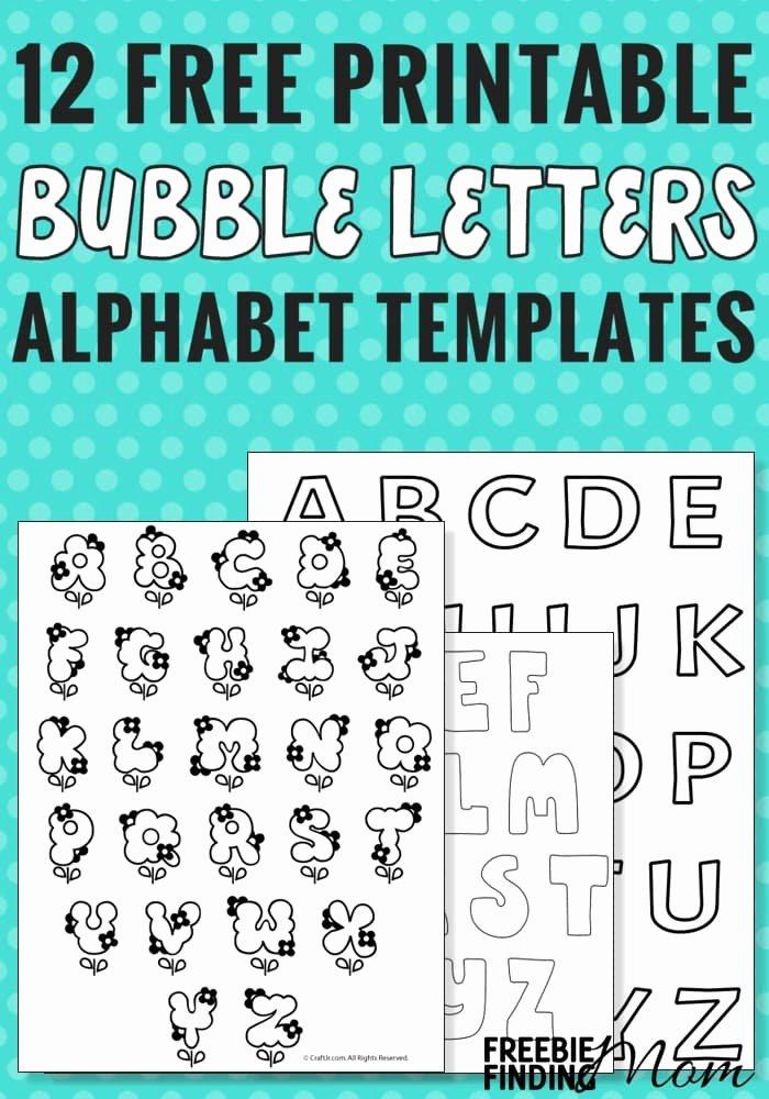 Alphabet Letters to Print Free Elegant 12 Free Printable Bubble Letters Alphabet Templates