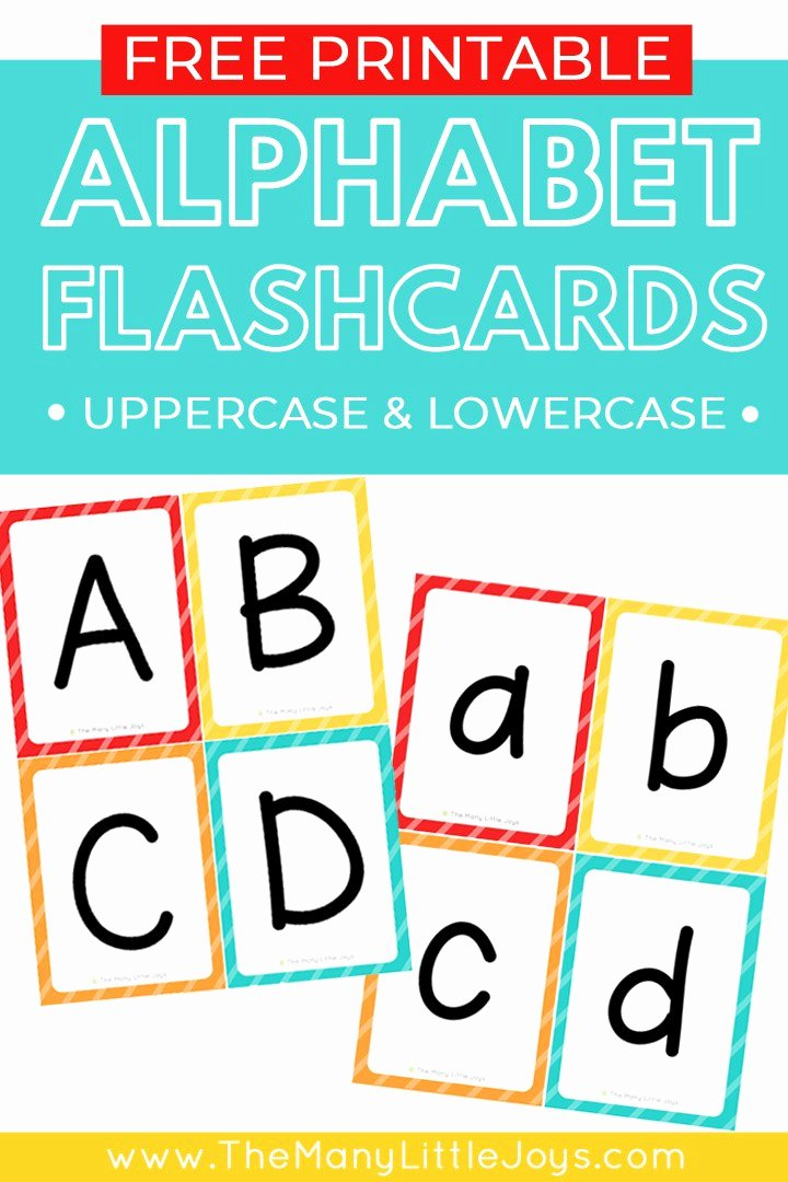 Alphabet Letters to Print Free Fresh Free Printable Alphabet Flashcards Upper and Lowercase