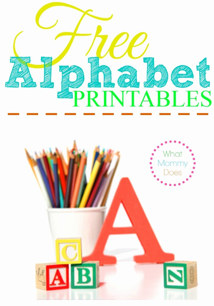 Alphabet Letters to Print Free Unique Free Alphabet Printables – Letters Worksheets Stencils