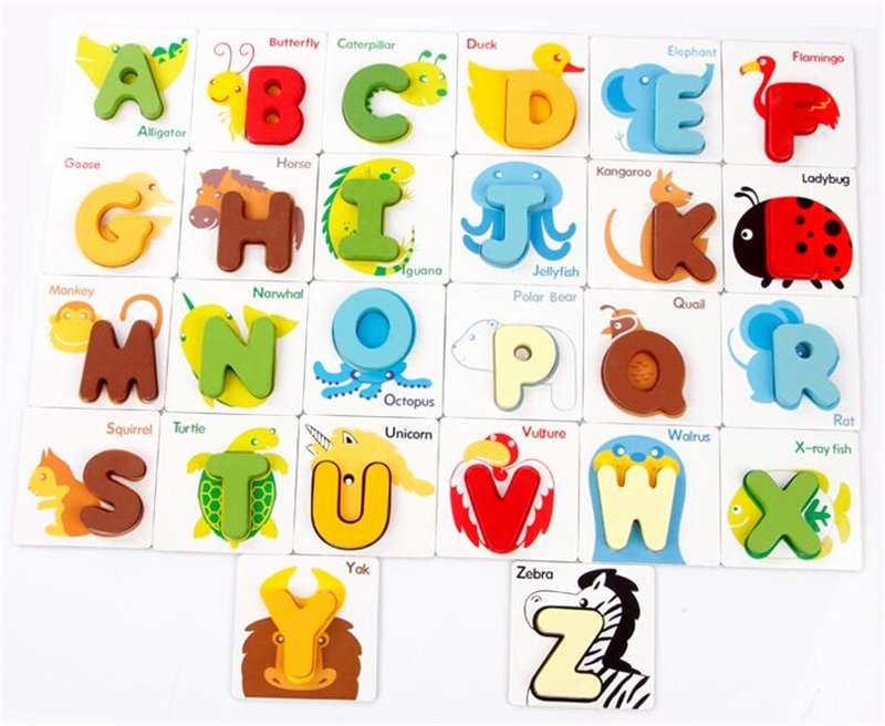 Alphabet Letters with Pictures Awesome Early Education Colorful Alphabet Letters and Animal Cards