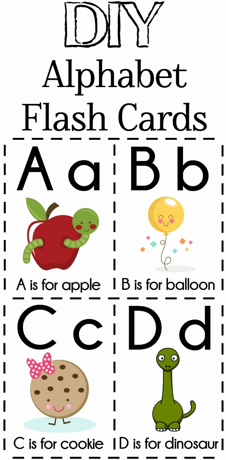 Alphabet Letters with Pictures Best Of Diy Alphabet Flash Cards Free Printable