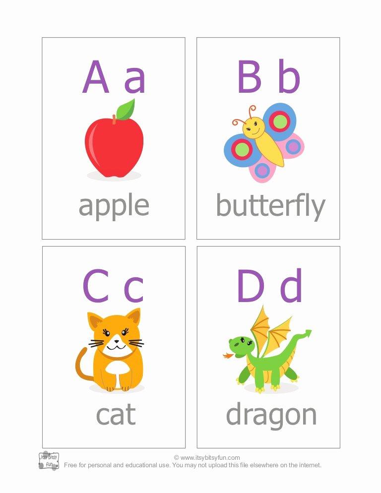 Alphabet Letters with Pictures Fresh Abc Alphabet Flash Cards