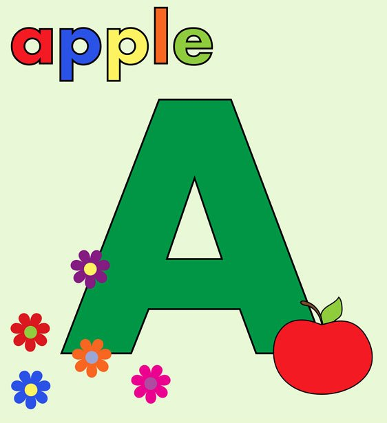 Alphabet Letters with Pictures Inspirational Alphabet Letter A Colorful Free Stock Public