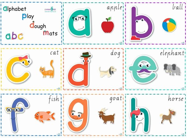 Alphabet Letters with Pictures Lovely Number & Alphabet Play Dough Mats Cursive Print