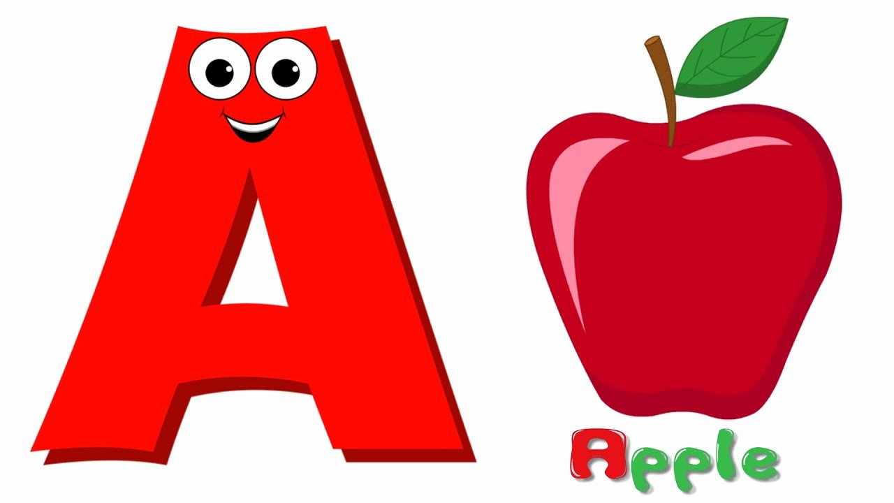 Alphabet Letters with Pictures Lovely Phonics Letter A Abc song