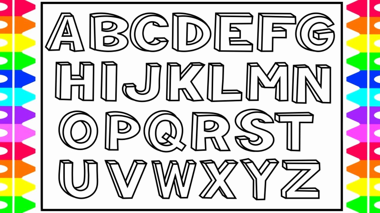 Alphabet Letters with Pictures New How to Draw 3d Alphabet Letters Kids