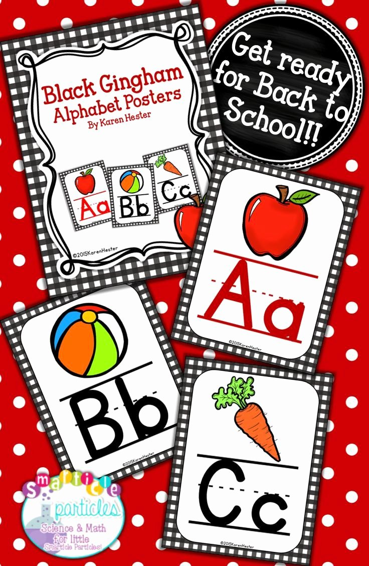 Alphabet Poster for Classroom Best Of Alphabet Posters Black Gingham