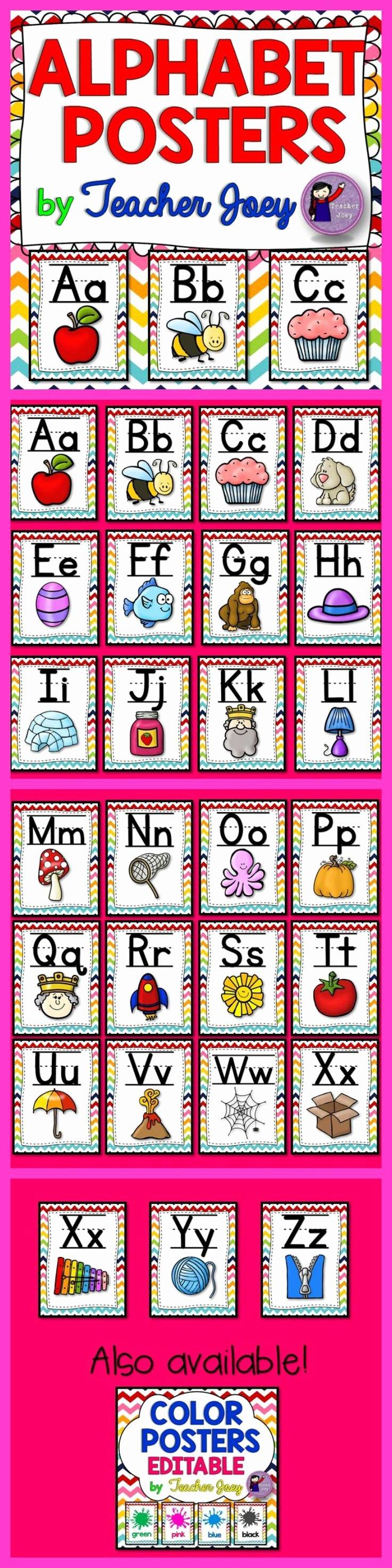Alphabet Poster for Classroom Fresh Alphabet Posters Alphabets