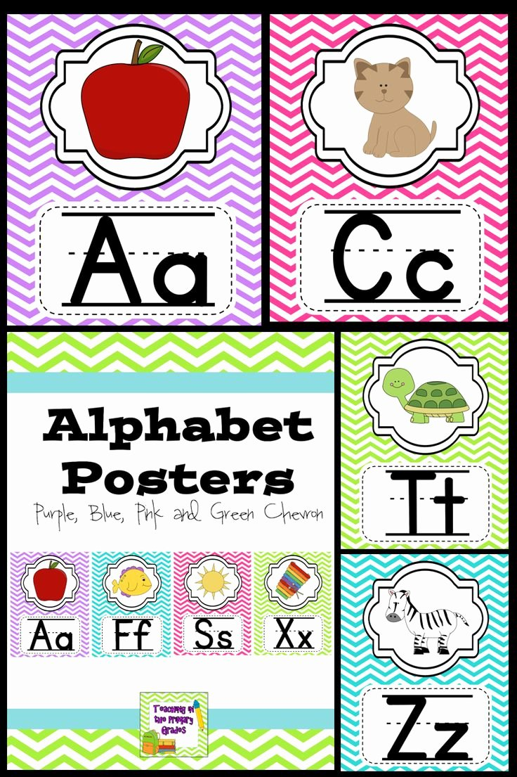 Alphabet Poster for Classroom Fresh Alphabet Posters Classroom Decor Purple Blue Pink and