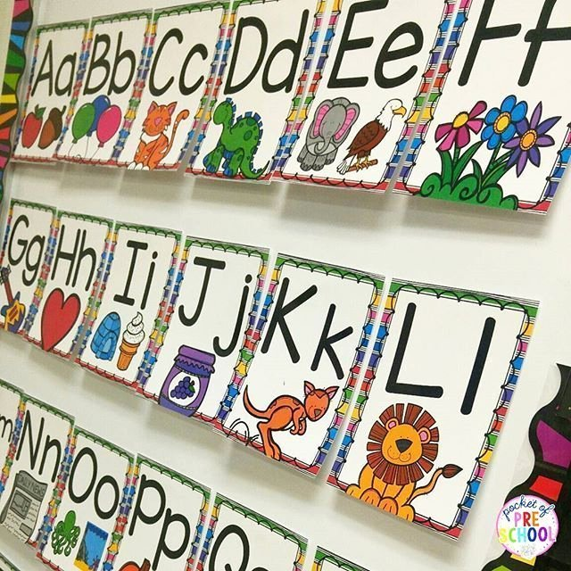 Alphabet Poster for Classroom Inspirational Bright Rainbow Alphabet Posters Letters