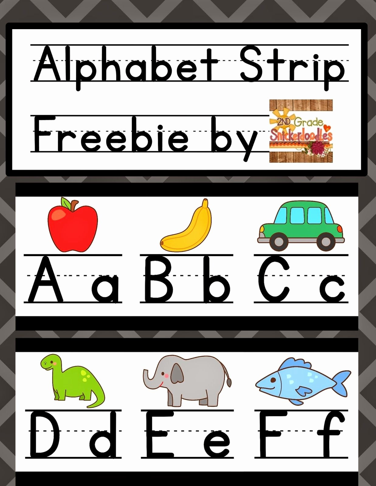 Alphabet Poster for Classroom Luxury 2nd Grade Snickerdoodles Alphabet Strip Posters Freebie