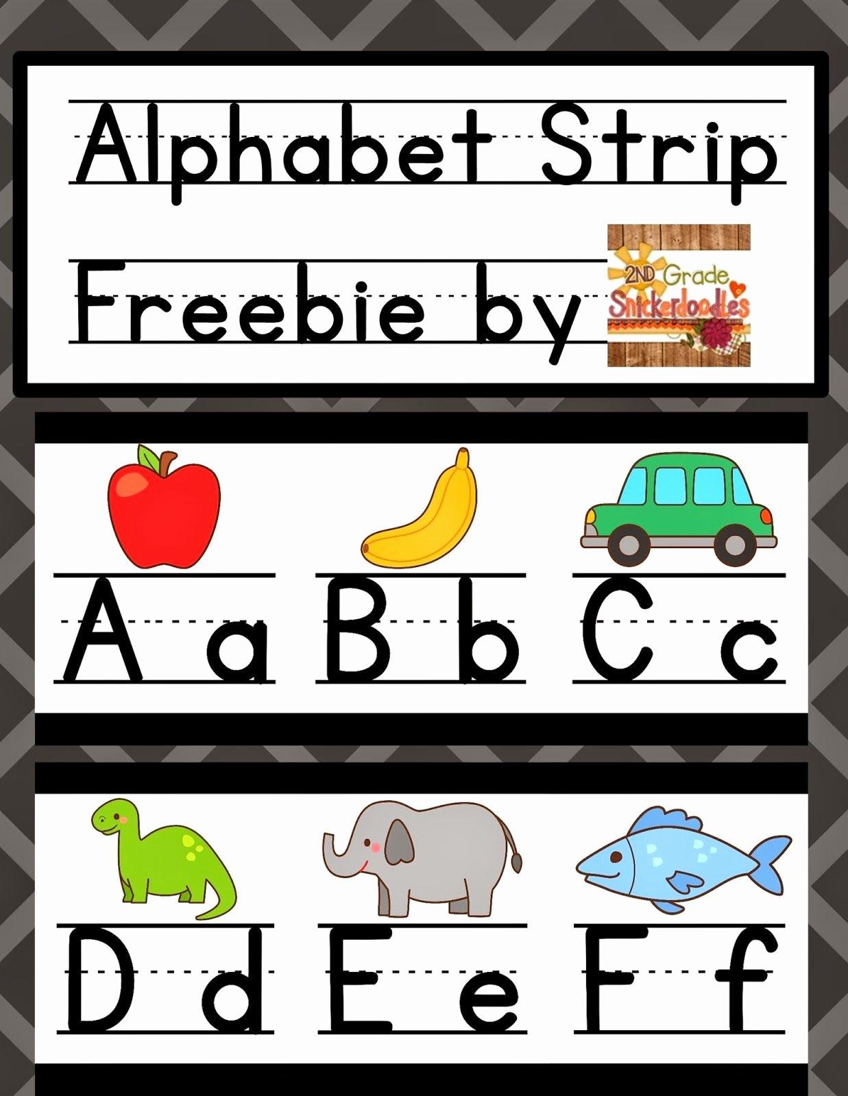 Alphabet Poster for Classroom Luxury 2nd Grade Snickerdoodles Alphabet Strip Posters Freebie