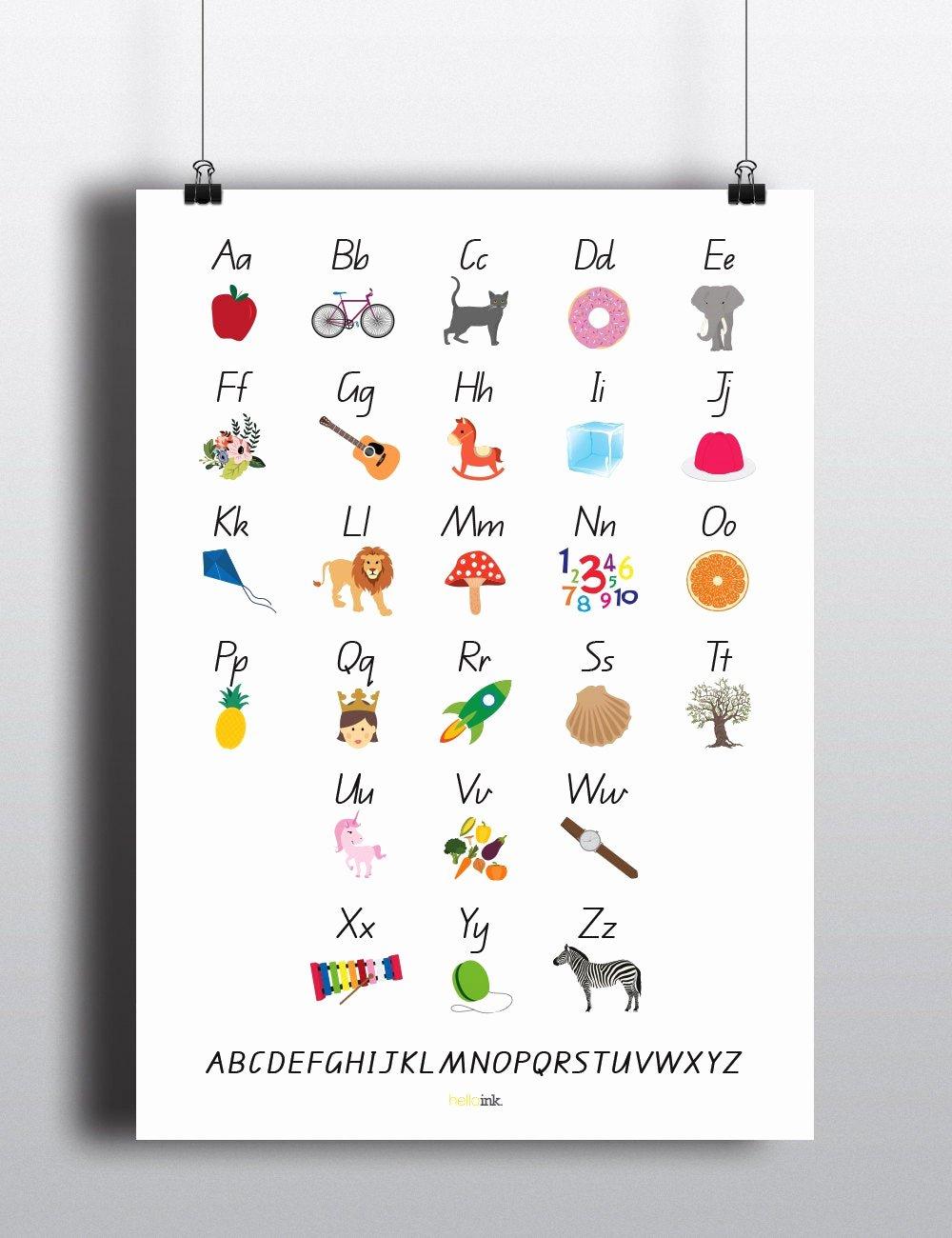 Alphabet Poster for Classroom Luxury Alphabet Poster Educational for Classroom Queensland