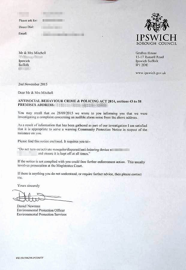 Apartment Noise Complaint Letter Inspirational Couple Face £5 000 Fine for Installing Anti Child Noise