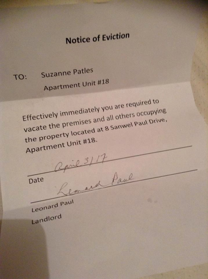 Apartment Noise Complaint Letter Lovely Prominent Mi'kmaq Warrior Evicted From Apartment Calls for