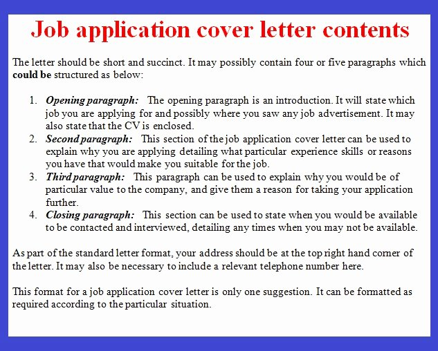 Application for A Job Letter Lovely Job Application Letter Example October 2012