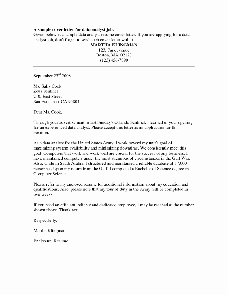 Application for A Position Unique Cover Letter for Internal Position