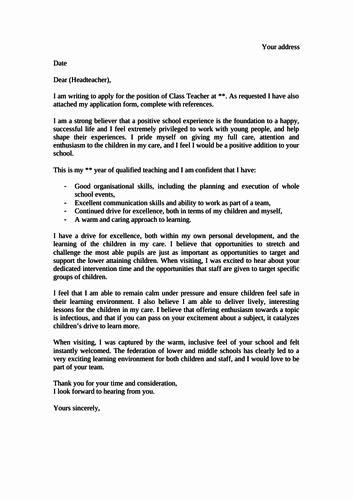 Application for A Teacher Job Luxury Job Application Statements Cover Letters by Charcop1