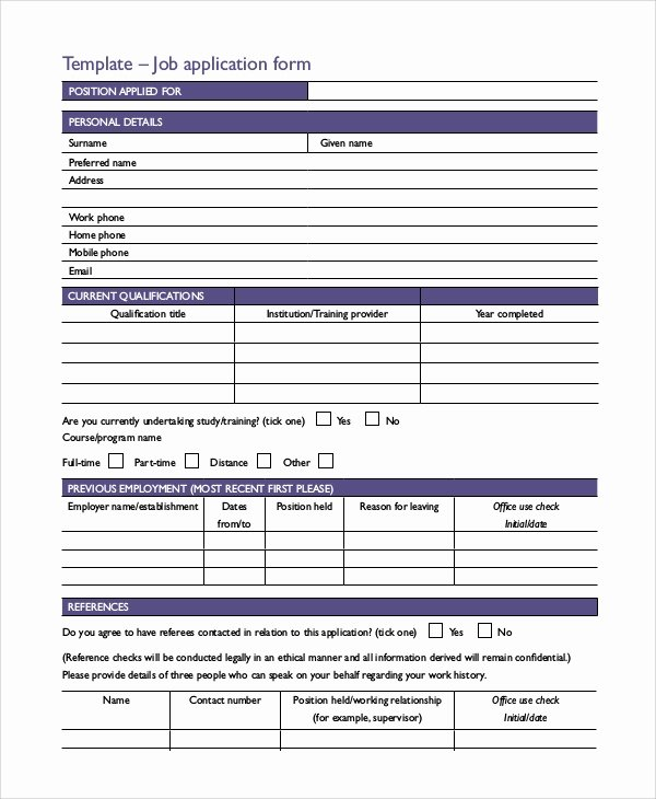 Application for Employment Free Beautiful Sample Printable Job Application form 10 Examples In