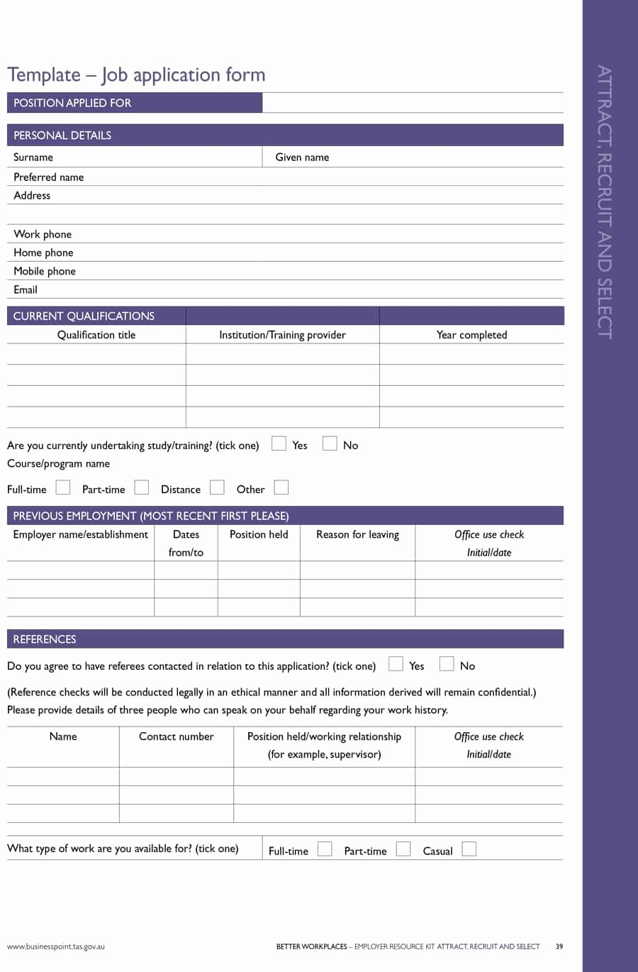 Application for Employment Free Unique 50 Free Employment Job Application form Templates