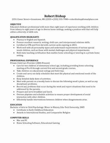 Application for Nanny Position Lovely Resume Template for Nanny Job Birthdayessay X Fc2