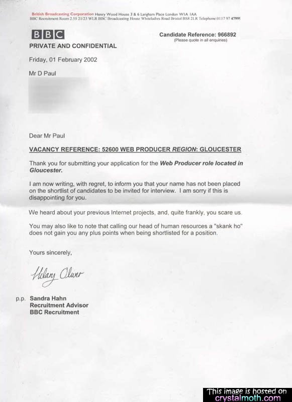 Application Rejection Letter Template Elegant Dailyrejections