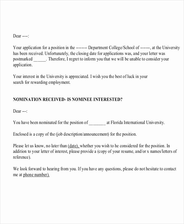 Apply for Job Letter Luxury Employment Application Letters 8 Free Word Pdf format