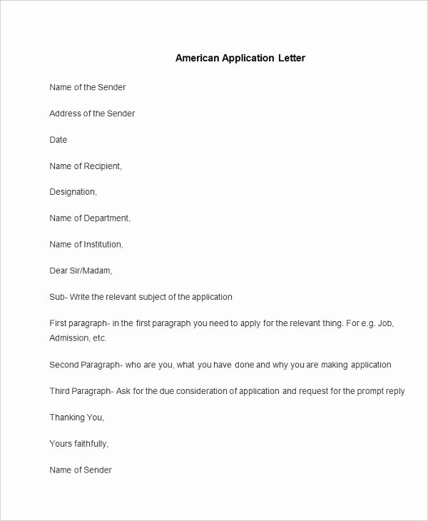 Apply for Job Letter Unique 94 Best Free Application Letter Templates & Samples Pdf