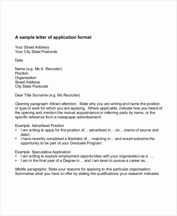 Applying for Job Letters Beautiful 32 Job Application Letter Samples
