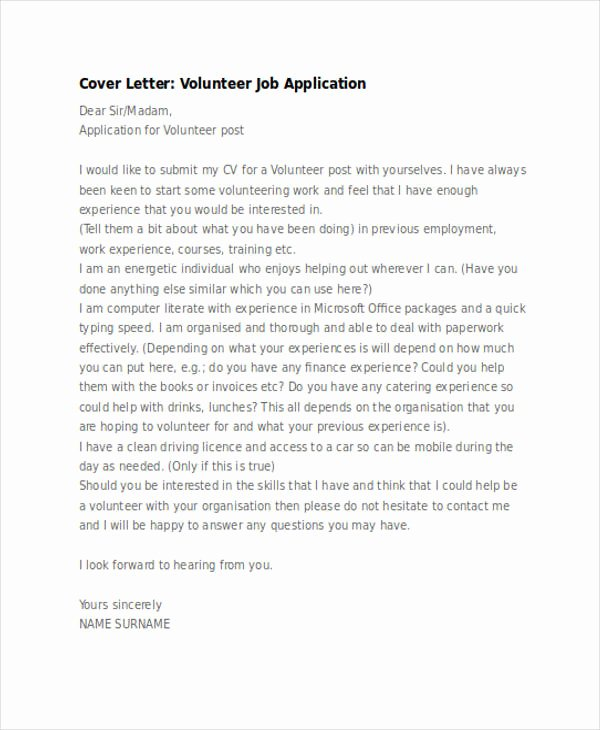Applying for Job Letters Elegant Free 54 Application Letter Examples & Samples In Editable
