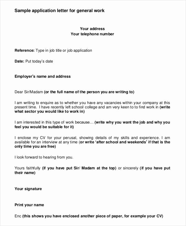 Applying for Job Letters Luxury 10 Job Application Letter Templates for Employment Pdf