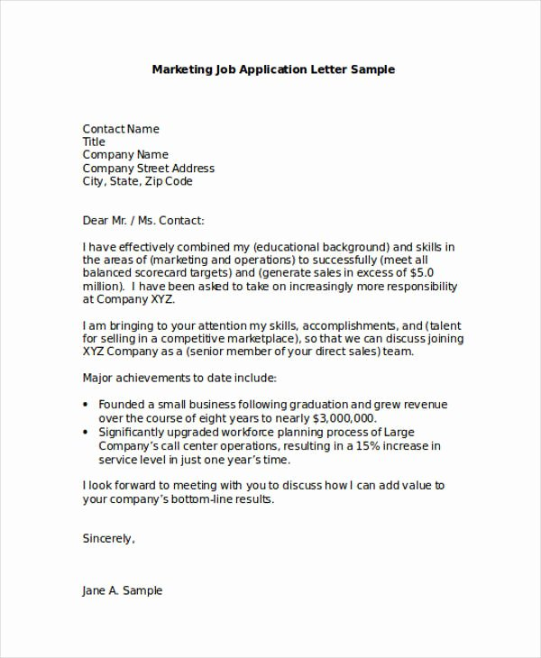 Applying for Job Letters Luxury Free 54 Application Letter Examples & Samples In Editable