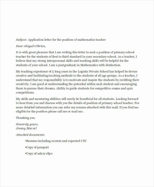 Applying for Jobs Letter Best Of 29 Job Application Letter Examples Pdf Doc