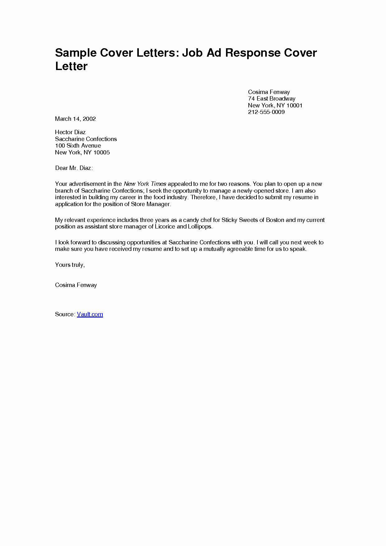 Applying for Jobs Letter Fresh Sample Cover Letter for Applying A Job