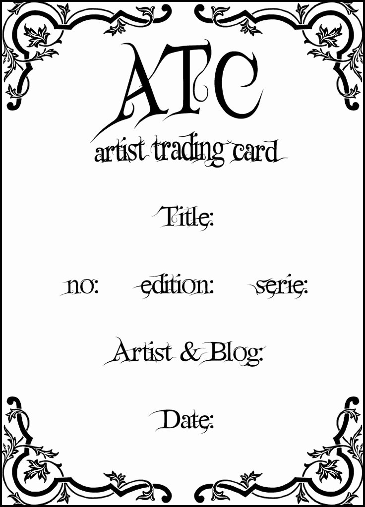 Artist Trading Cards Template Fresh 22 Best Artist Trading Cards atc Images On Pinterest