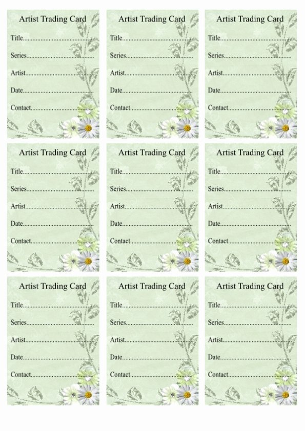 Artist Trading Cards Template Lovely Wendy S Crafting Times Free atc Backs