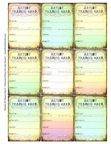 Artist Trading Cards Template New 17 Best Images About atc Resources On Pinterest