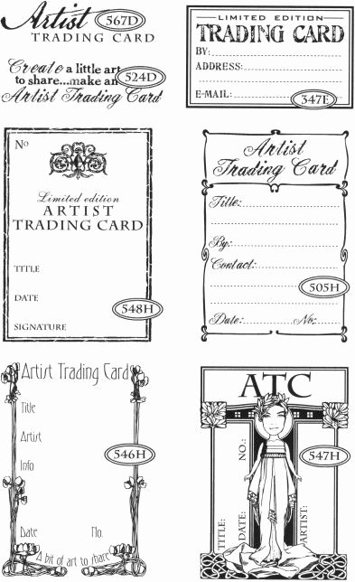 Artist Trading Cards Template New Best 25 Art Trading Cards Ideas On Pinterest